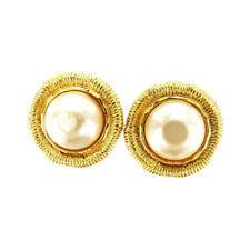 CHANEL Earring Fake Pearl Ladies Authentic Used T3391