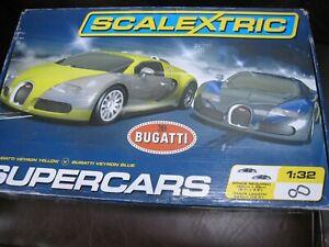 Scalextrix Bugatti Veyron Supercars Boxed Set - C1297 - 2 x Cars
