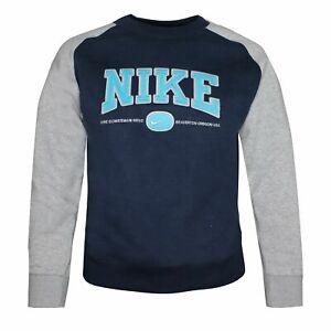 Nike Beaverton Oregon USA Boys Sweatshirt Navy 491389 452