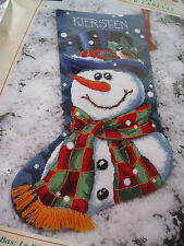 """Christmas Dimensions Needlepoint Stocking Kit,MR. FROST,Snowman,Trainer,9128,16"""""""