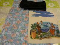 lot=patchork   les fleurs vintage +chutes offertes +scéne catalane
