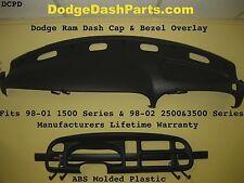 DODGE RAM ABS Dash Cap Overlay & Instrument Bezel Overlay 98-02 SLT P/U  AGATE