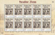 Australia 2013 News Headlines Set Of 4 LIMITED EDITION Commemorative Sheetlets