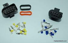 2 X 8 PIN PLUGS, MALE & FEMALE for EBERSPACHER HYDRONIC WIRING LOOM...FREEPOST