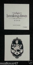 SDCC Comic Con 2012 EXCLUSIVE Twilight Breaking Dawn CULLEN CREST temp. tattoo