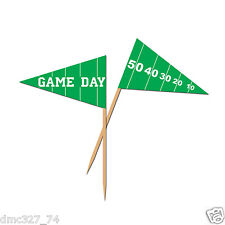 50 FOOTBALL Tailgate Super Bowl GAME DAY Party Food Cupcake Hors D'Oeuvers PICKS
