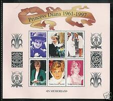 SIERRA LEONE # 2090-2092 PRINCESS DIANA MEMORIAL Miniature Sheets