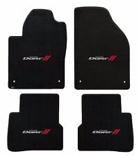 New! Black Floor Mats 2013-2016 Dodge Dart Embroidered Logo Silver & Red All 4