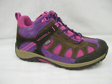 Girls Merrell Walking BOOTS Brown and Pink Cham Mid My51952 UK 4