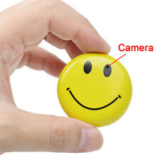 Smile Face Badge Mini DV HD CCTV Spy Camera DVR Nanny Cam Hidden Video Recorder