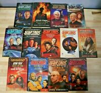 Lot of 13 Star Trek Books Mixed Series Sci-Fi Next Generation Enterprise