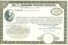 IOS Investment Program Certificate 1968 USA ......zum HAMMERPREIS.........