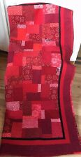 Handmade Patch Work Quilt Solid Red's and Print Red's New Signed