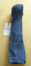 Duchamp London Bleu Tissé Cravate en soie largeur 6.5 cm Bnwt