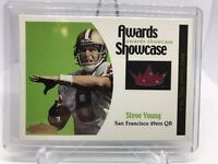 STEVE YOUNG 2001 FLEER SHOWCASE Awards Game Used Jersey SF 49ERS /100 HOF MINT