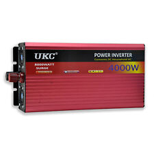 UKC 12V 4000W/4K Watt Modified Sine Wave Inverter 12V 220V Car power Inverter