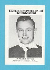 FOOTBALL - NEWS CHRONICLE - FOOTBALLER CARD - JONES  OF ROCHDALE HORNETS  - 1955