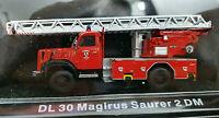 Saurer 2 DM DL 30 Magirus Vigili del Fuoco Scala 1:72 Die Cast - Atlas