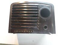 Silvertone Radio Cover Bakelite Crack Parts or Repair