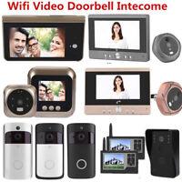 Smart WiFi Doorbell Wireless IR Video Camera Intercom Home Security Doorbell