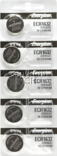 5 pc 1632 Energizer Watch Batteries CR1632 CR 1632  Lithium Battery 0%HG