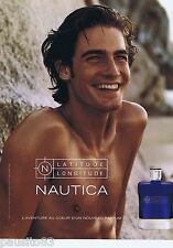 PUBLICITE ADVERTISING 115 2001 Nautica latitude longitude nouveau parfum