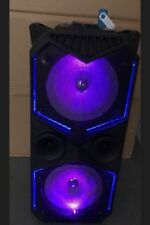 """WIireless Dual 6.5"""" Portable DJ Party Rechargeable Speaker FM/TF/USB with Mic"""