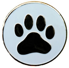Dog Paw Ball Marker with Round Nickel Hat Clip