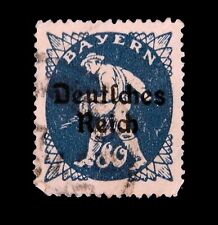 GERMAN Stamps 1920  / Bayern Overprinted Deutsches Reich  / Used