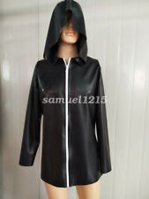 New 100%Latex Rubber Catsuit Bodysuit Masquerade cospay HOOD Black Party XXS-XXL