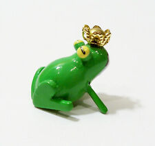 Erzgebirge Germany Green Frog King Prince Wooden Wood Ulbricht Vintage Miniature