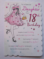 STUNNING TOP RANGE BEAUTIFULLY WORDED DAUGHTER EIGHTEEN 18TH BIRTHDAY CARD