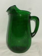 "Anchor Hocking FOREST GREEN *7"" JUICE PITCHER*"