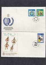 Guernsey 1985 International Youth Year inc Girl Guides pair First Day Cover FDC