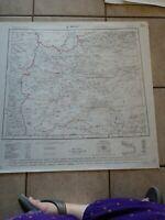 1954 Map of Herat, Afghanistan Ghorat Badghis Maimana Obeh
