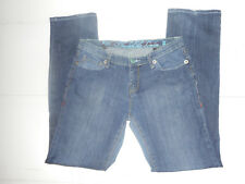 New Indelible London womens jeans size 9/10 30 button fly emboideried pockets