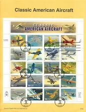 US 1997 FDC USPS Souvenir Page Classic American Aircraft w  20 Stamps  |