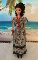 Handmade Fashion outfit Silk Dress set for Vintage Barbie Dolls