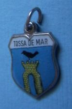 Vintage Tossa de Mar Spain shield silver charm
