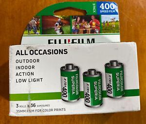 Fuji Superia X-TRA ISO 400 36 Exposure 35mm Film~3 Pack