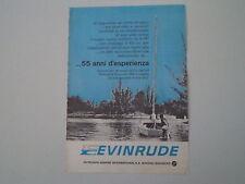 advertising Pubblicità 1963 MOTORI OUTBOARD EVINRUDE
