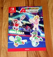 Mario Tennis Aces Rare Promo Sticker Set Aufkleber Gamescom 2018 Nintendo