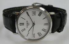 Tissot T870/970 Watch - Black Leather Strap
