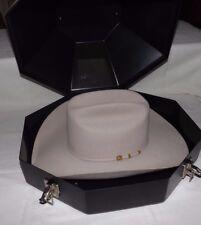 STETSON 100X Beaver & Cashmere El Presidente COWBOY HAT with Box (Size 7 1/4-58)