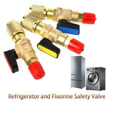 """1/4"""" Male to 1/4"""" Female SAE Straight Ball Valve AC Charging For R22 Refrigerant"""
