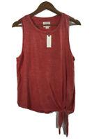 NWT Anthropology Maeve Women's Size M Slub Tank Top Red