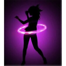 Flashing Hula Hoop Adjustable Size Light Up LED Colourful Outdoor Night Fun