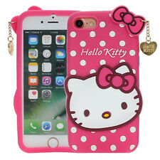 For iPhone 7 / 8 (4.7 inch) - PINK HELLO KITTY Soft Rubber Phone Cover Skin Case