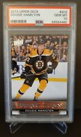 2013 UPPER DECK #202 DOUGIE HAMILTON YG RC UD YOUNG GUNS ROOKIE PSA 10 BRUINS