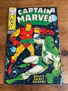 Captain Marvel #14 Marvel Comics 1969 COMBINE SHIPPING Iron Man Box M